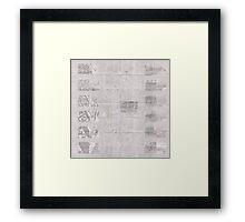 140 Regent St - Faux-Drawing Map Framed Print
