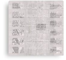 140 Regent St - Faux-Drawing Map Canvas Print