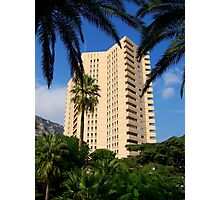 Tower behind the palms  Photographic Print