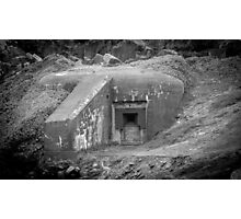 German WWII Ant Tank Bunker  Photographic Print
