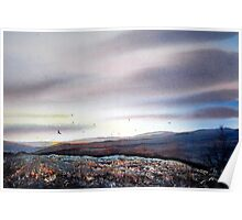 North Yorkshire Moors at Twilight Poster