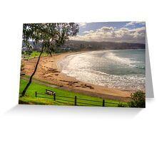 A bench with a view at Lorne in landscape Greeting Card