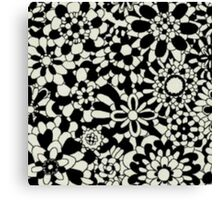 Cute Floral Pattern Item Canvas Print
