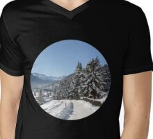 Winter in Switzerland Mens V-Neck T-Shirt