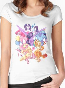 My Little Pony transparent print Women's Fitted Scoop T-Shirt