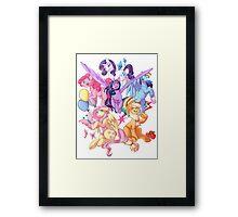My Little Pony transparent print Framed Print