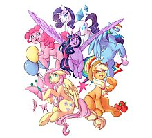 My Little Pony transparent print Photographic Print
