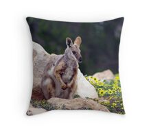 In amongst the daisies  Throw Pillow