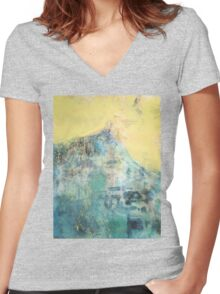 Hillside Facing the Sun Women's Fitted V-Neck T-Shirt