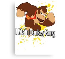 I Main Donkey Kong (DK) - Super Smash Bros. Canvas Print
