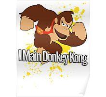 I Main Donkey Kong (DK) - Super Smash Bros. Poster