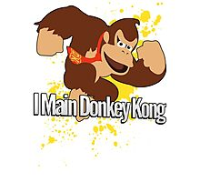 I Main Donkey Kong (DK) - Super Smash Bros. Photographic Print