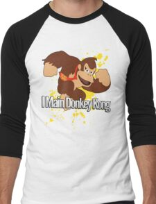 I Main Donkey Kong (DK) - Super Smash Bros. Men's Baseball ¾ T-Shirt