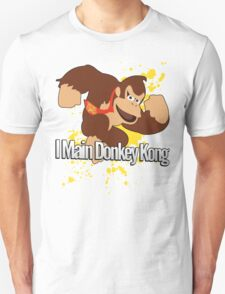 I Main Donkey Kong (DK) - Super Smash Bros. Unisex T-Shirt