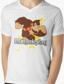 I Main Donkey Kong (DK) - Super Smash Bros. Mens V-Neck T-Shirt