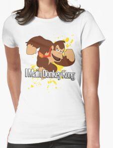 I Main Donkey Kong (DK) - Super Smash Bros. Womens Fitted T-Shirt