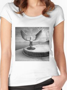 Free Will Women's Fitted Scoop T-Shirt