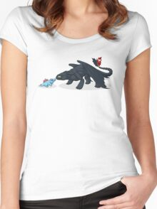 Toothless & Totodile Women's Fitted Scoop T-Shirt