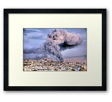 Fire in Athens Framed Print