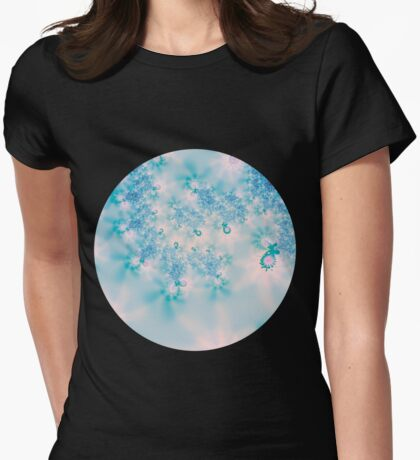 Blue Meditation Womens Fitted T-Shirt