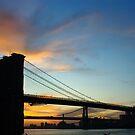 The Brooklyn Bridge At Dawn by Dave Bledsoe