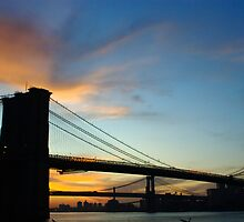 The Brooklyn Bridge At Dawn by Dave Bledsoe
