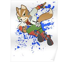 Fox - Super Smash Bros Poster
