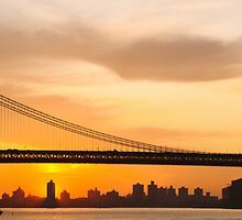 East River Sunrise, The Manhattan Bridge by Dave Bledsoe