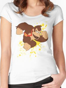 Donkey Kong (DK) - Super Smash Bros Women's Fitted Scoop T-Shirt