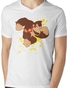 Donkey Kong (DK) - Super Smash Bros Mens V-Neck T-Shirt