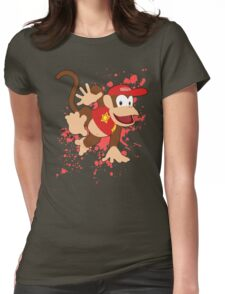 Diddy Kong- Super Smash Bros Womens Fitted T-Shirt