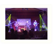 The Furys in Concert in Portaferry Art Print