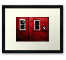 Red Building 2 Framed Print