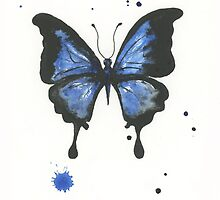 Inky butterfly by PuddlePaints