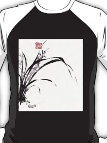 Japanese Orchid Design painted by Lee Henrik T-Shirt
