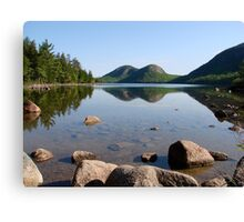 Summer Scene, Jordan Pond Canvas Print