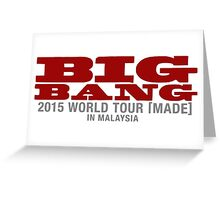 Big bang world tour malaysia Greeting Card