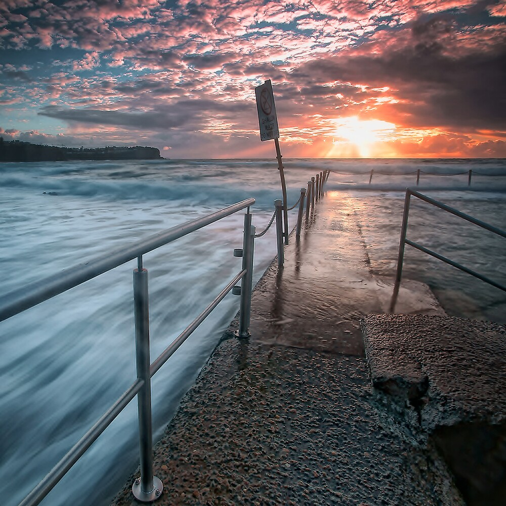 Newport pool at sunrise. NSW by Blessedphoto