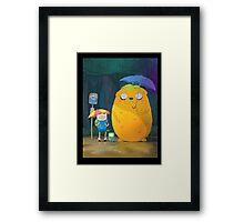 Adventure Time - Totoro Version  Framed Print