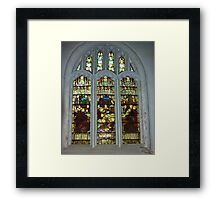 Window #4 St Peter's Church Framed Print