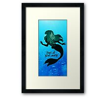 Arie mermaid ln Part of your world Framed Print