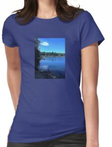 Woods by the Lake Womens Fitted T-Shirt