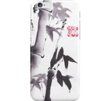 Japanese ink painting bamboo design by Lee Henrik iPhone Case/Skin