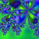 Fractal Flower # 3 by Marcella Babineaux