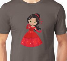 Beautiful Princess in a red dress Unisex T-Shirt