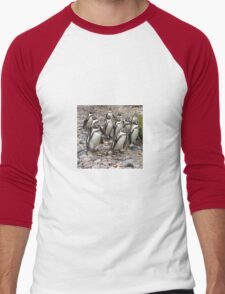 Humboldt Penguin Party Men's Baseball ¾ T-Shirt