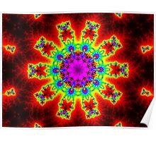 10 Lichter Kaleidoskop Poster