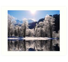 Reflections of Winter, Austria Art Print