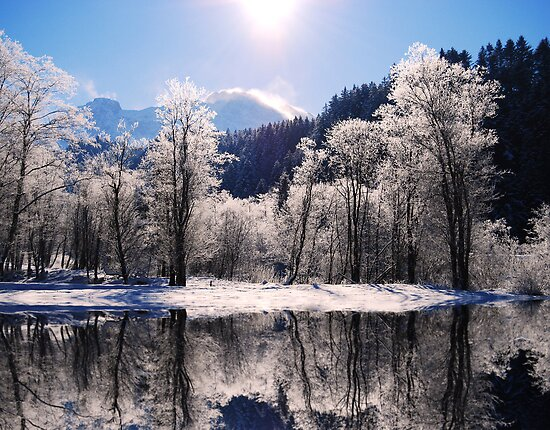Reflections of Winter, Austria by Sabine Jacobs