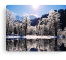Reflections of Winter, Austria Canvas Print